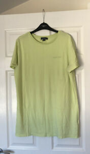 Ladies Long Length Yellow T-shirt Top - Size S 10/12