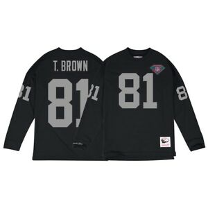 Tim Brown Los Angeles Raiders Mitchell & Ness Jersey Inspired Longsleeve Knit
