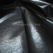 Black Vinyl Faux Leather Material Upholstery Fabric - Strong Shiny Top Quality