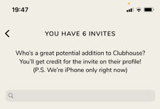 Clubhouse Invite Instant Delivery (invito clubhouse) 1 remains
