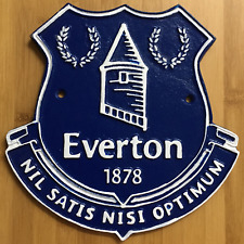 Everton Plaque Large Cast Iron Repro 'Toffees' Sign Man Cave Bar 1 Only 24cm