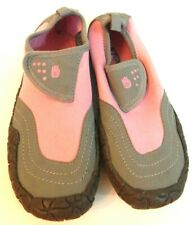 Teva Girls 2 Shoes Proton Water Sport Pink Gray Neoprene EUC Free Ship