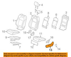 Acura HONDA OEM 14-17 MDX Driver Seat-Recline Cover 81638TZ5A01ZC