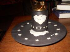 #17 Wedgwood Black Basalt Patriotic Eagle & Stars Lighter & Ashtray