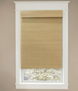 Cut-to-Size Natural Cordless Light-Filtering UV Protection Bamboo Shades 23 in.
