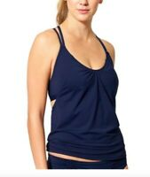 NWT Athleta S Dress Blue Navy Hang Loose Tankini Top Swim Quick Dry