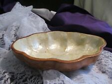 Aloha-Craft Monkey Pod Wooden Dish lined with Mother of Pearl