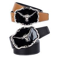 New Men's Western Motorcycle Punk Rock Cowboy Alloy Leather Belt Buckle #03137