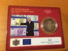 Spec. Aanbieding  Luxemburg 2 euro 2012 10 jaar euro  in coincard BU