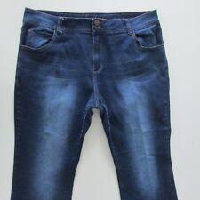 City Chic Jeans Womens Size 18 L26 Capri Bootcut Blue Denim Zip Fly