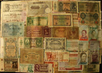 Mix Lot 100 Pcs Different World Banknotes Germany Russia Hungary Old Paper Money
