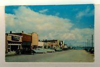 Mackinaw Michigan City Street View Old Cars Postcard