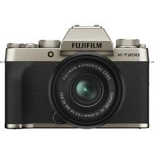Fujifilm X-T200 Digital Mirrorless Camera with XC 15-45mm Lens - Champagne Gold
