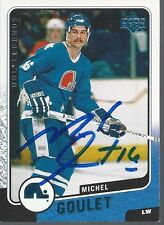 Quebec Nordiques MICHEL GOULET Signed Card