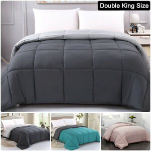 MOHAP 10.5 TOG Reversible Comforter Duvet Warm Anti Allergy Double King Size UK