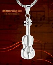 New Violin Ashes Musical Instrument Urn Cremation Memorial Necklace