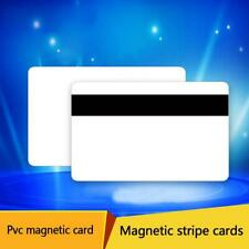 10pcs PVC PLASTIC BLANK WHITE CREDIT CARD 30 MIL With Stripe Loco Magnetic Z2E4