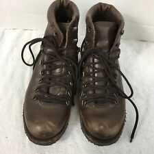 Punto Pigro Women's Hiking Boots EU 38 US 7 Made In Italy Brown Leather