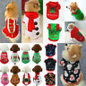 Christmas Cute Pet Cat Dog Puppy Cotton Clothes Padded Skirt Jacket Costume Suit