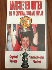 MANCHESTER UNITED THE FA CUP FINAL 1990 AND REPLAY CP V MU AS NEW PAL VHS VIDEO