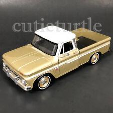 Motormax 1966 Chevrolet C10 Fleetside Pickup Truck 1:24 Diecast 73355 Gold