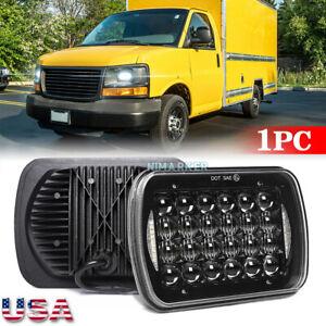 "5X7"" LED Headlights DRL Hi/Lo Beam For GMC Safari Savana 1500 2500 C4500 Topkick"