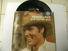 45 Record Elvis,Guitar Man,Near Mint with PS
