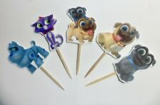 Puppy Dog Pals, Cupcake Toppers. Cake decor, party supplies SET OF 10
