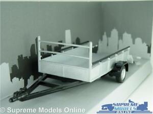 CAR VEHICLE TRAILER MODEL 1:43 SCALE FLAT BED CARARAMA 2 WHEEL FOLD DOWN RAMPS K
