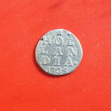 Niederlande: 2 Stuiver Silber 1735, Province Holland (Hollandia), #F 2211, SS-VF