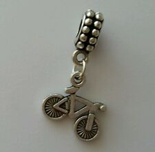 Bicycle Bike Sport Silver Plated Dangle Charm Bead For European Style Bracelets