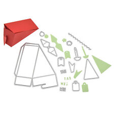 Dreieck Stanzschablone Schachtel Tortenstück Kuchen Box 3D Triangle Cake Box Neu