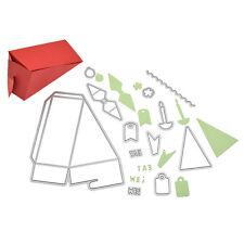 Stanzschablone Dreieck Schachtel Tortenstück Kuchen Box Bastelbedarf DIY Papier