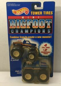 Hot Wheels 1991 BIGFOOT Champions Tower Tires - On Card