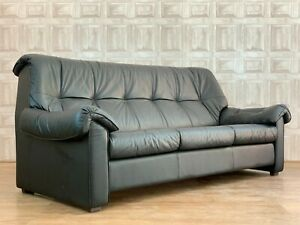 2 Of 2 Ekornes Stressless Black Leather 3 Seater Sofa - Pair Avai *£88 DELIVERY*