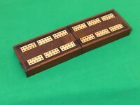 Old Vintage Inlaid Wooden Cribbage Card Game Playing Cards Scoring Score Box #2