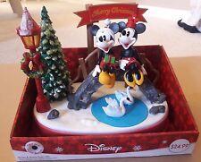 Mickey & Minnie Swan Lake Christmas Music Animated Table Top Decor Mouse Disney
