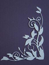 Leaf Corner Flourish Border Paper Die Cuts x 8 Scrapbooking Embellishment