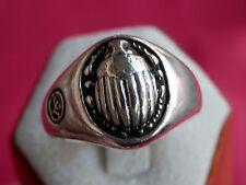 David Yurman Sterling Silver Petrvs Scarab Men's Ring Size 11.25 $550