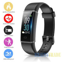 Fitness Tracker Watch Fitbit Activity Sleep Monitor Bluetooth Running Smart Band