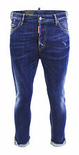 DSQUARED GLAM HEAD JEANS STRETCH DENIM MID BLUE MITTELBLAU S71LB0238 GR 46 NEU