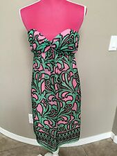 Milly Dress Size 0 XS Silk Halter Party Light Sexy Green Pink