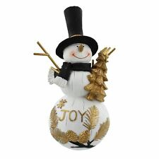 Christmas Black & Gold Joy Design Snowman by Winter Wonderland