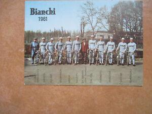 cyclisme cp equipe bianchi 1961 balmanion  bailetti..