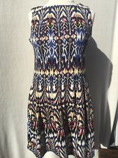 Gabby Skye Women's Black and Cream Animal Print Print Dress Short Sleeve Size 10