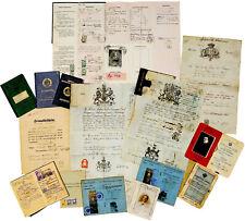 1846-1969 PASSPORT LOT - Rare WWI Yiddish Papers - EARLY RUSSIAN PASS - Serbia
