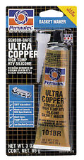 Permatex High Temp RTV Silicone Gasket Maker Ultra Copper 3 oz. Model 81878