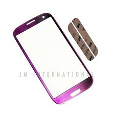 Samsung Galaxy S3 i9300 T999 Touch Screen Lens Purple Front Glass Outer Cover