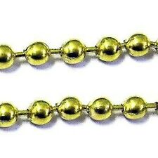 5 meters Gold Plated ball Chain - 1.5mm ball - A5445