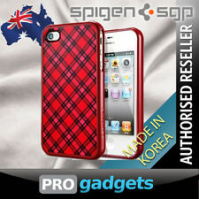 Genuine Spigen SGP Apple iPhone 4 4S Linear Velato Case Cover - Red